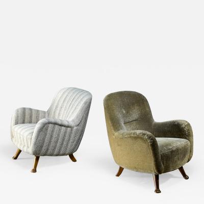 Berga M bler Berga pair of lounge chairs Sweden 1940s