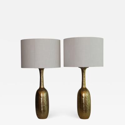 Bergboms Style Gold Luster Table Lamps