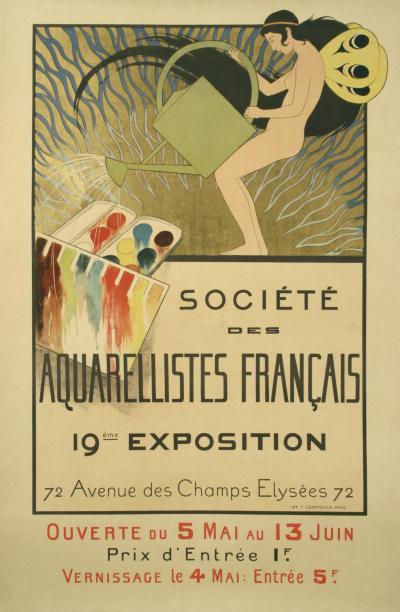 Bernard Boutet de Monvel French Art Nouveau Period Art Exhibition Poster by de Monvel 1897
