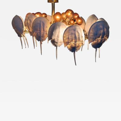 Bernard Figueroa Light Sculptures Limule Chandelier