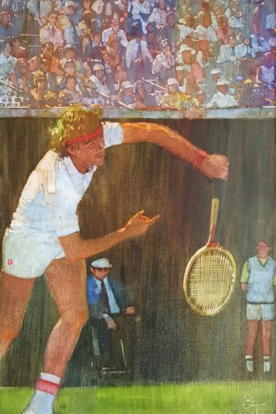 Bernard Fuchs Tennis Player Jimmy Conners
