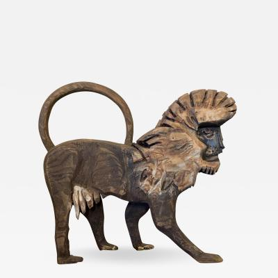 Bernard Langlais Bernard Langlais Carved Baboon