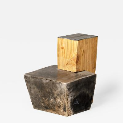 Bernard Thimonnier Untitled Wood and Ceramic tabletop sculpture