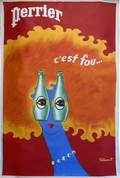 Bernard Villemot Perrier Poster by Bernard Villemot