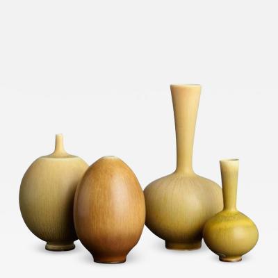Berndt Friberg Berndt Friberg Stoneware Miniature Vases Sweden 1958 1968