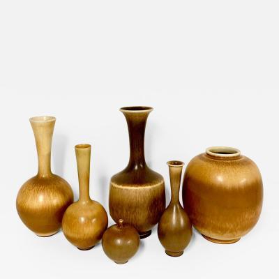 Berndt Friberg Set of 6 Vases by Berndt Friberg for Gustavsberg Sweden