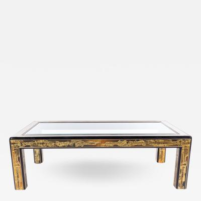 Bernhard E Rohne Mastercraft Coffee Table in Acid Etched Brass by Bernhard Rohne Circa 1970s