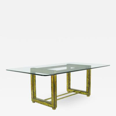 Bernhard Rohne Bernhard Rohne for Mastercraft Mid Century Modern Acid Etched Dining Table
