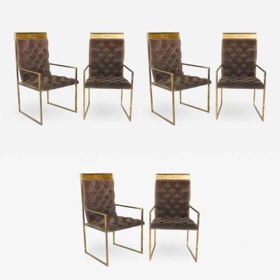 Bernhard Rohne Set of Six Dining Chairs by Bernhard Rohne for Mastercraft