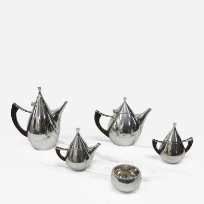 Bernice Goodspeed Mid Century Sterling and Rosewood Tea Service by Bernice Goodspeed