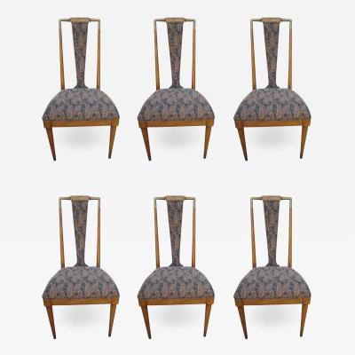 Bert England Rare Set of 6 Bert England Forward Trend Collection Dining Chairs