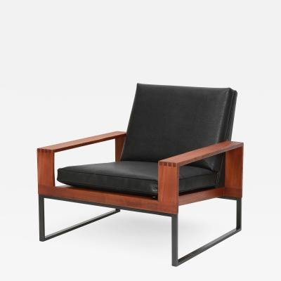 Bert Lieber Teak and Leather Chair Bert Lieber Walter Knoll 60s