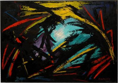 Bert Miripolsky Hope Abstract Oil Painting on Canvas by Bert Miripolsky