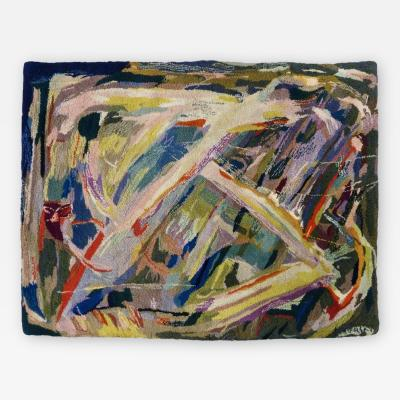 Bert Miripolsky Mid Century Abstract Expressionist Tapestry by Miripolsky
