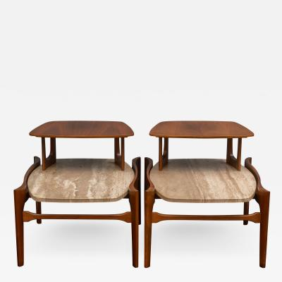 Bertha Schaefer Mid Century Modern Side Tables By Bertha Schaefer