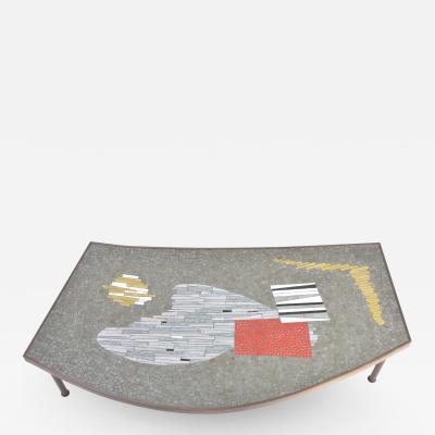 Berthold Muller Large Midcentury Mosaic and Brass Coffee Table by Berthold Mu ller Oerlinghausen