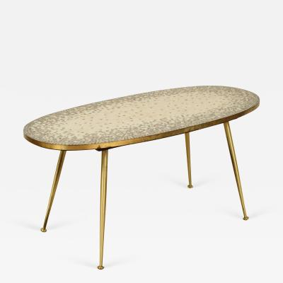 Berthold Muller Mosaic and Brass Side Table in the Style of Berthold Muller by Ilse M bel