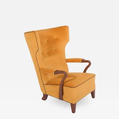 Bertil S derberg Rare 1938 Large Easy Chair by Bertil S derberg