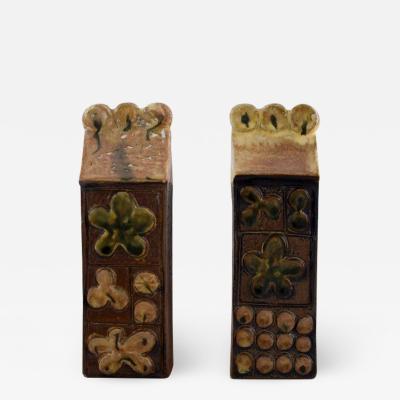 Bertil Vallien Two Baghdad sculptures in glazed ceramics