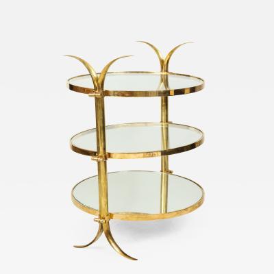 Bespoke Three Tiered Brass Tulip Table by Amir Khamneipur
