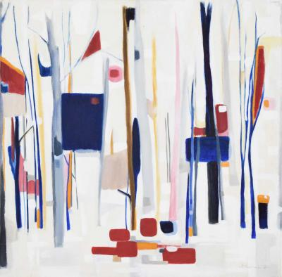 Betsy Keville B Keville Oil on Canvas Abstract