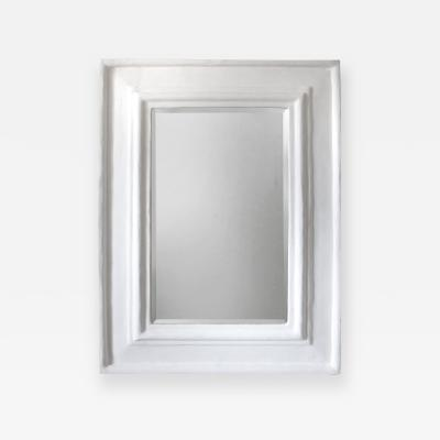 Beveled Mirror with Plaster Frame