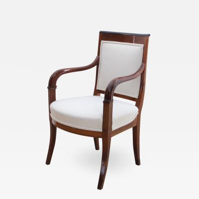 Biedermeier Armchair Cherrywood with Carvings France circa 1820