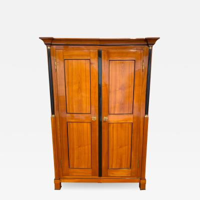 Biedermeier Armoire Cherry Solid Wood South Germany circa 1820