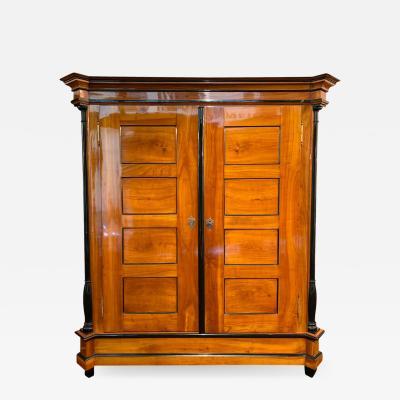 Biedermeier Armoire Restored Cherry Solid Wood Southwest Germany circa 1820