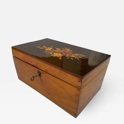 Biedermeier Box Ebonized Inlays Cherry South Germany circa 1840