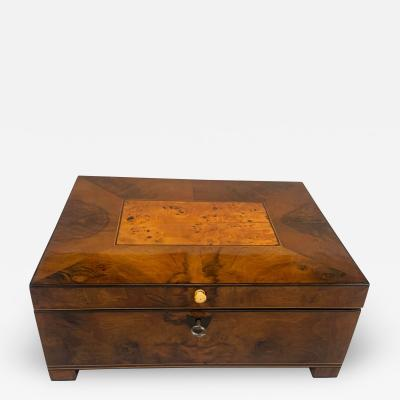 Biedermeier Box with Interior Walnut Birch Cherry Maple Vienna circa 1820
