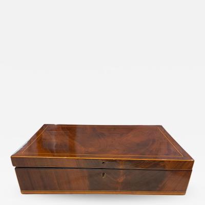 Biedermeier Casket Box Mahogany French Polish Austria Vienna circa 1830