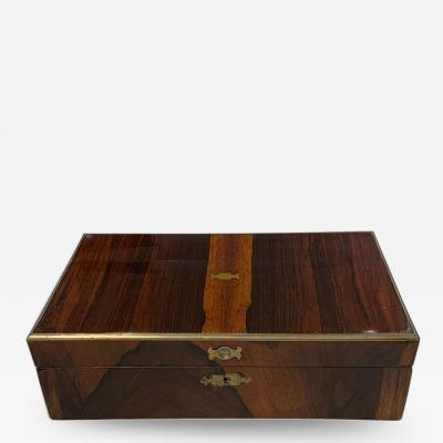 Biedermeier Casket Box Rosewood Veneer Brass Fitting Austria circa 1830