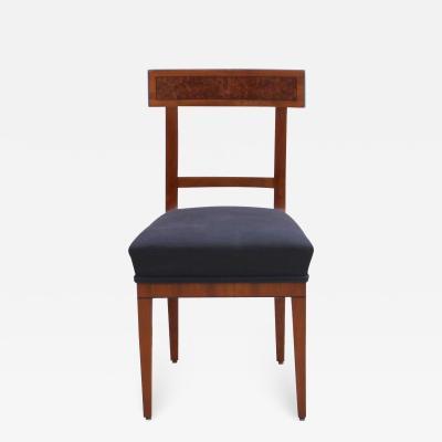 Biedermeier Chair Cherry Birch Root Ebony South Germany circa 1820