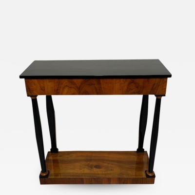Biedermeier Console Table Walnut Veneer and Ebonized South Germany circa 1820