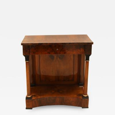 Biedermeier Consult Table Walnut Veneer South Germany circa 1820