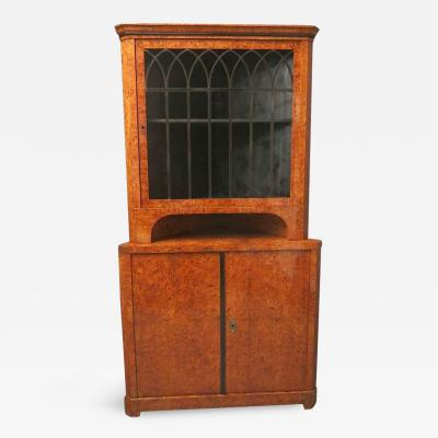 Biedermeier Corner Cabinet Austria 1820s