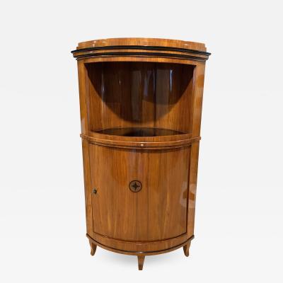 Biedermeier Corner Cabinet Cherry Veneer Ebony Inlay South Germany circa 1820