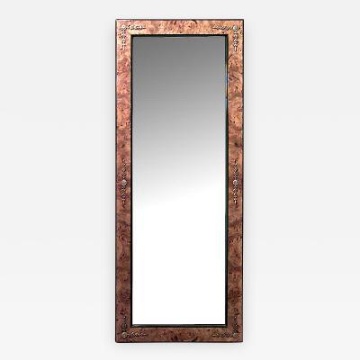 Biedermeier Danish Style Burl Ash Wall Mirror