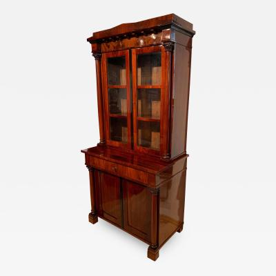 Biedermeier Display Cabinet Vitrine Mahogany French Polish Germany 19th c
