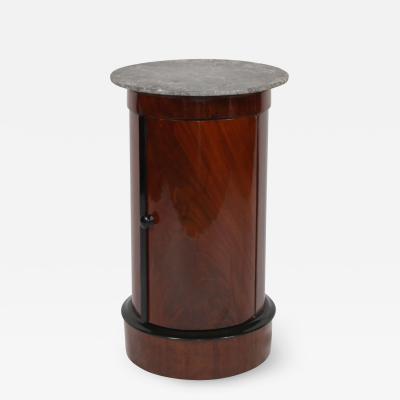 Biedermeier Drumtable Polished Mahogany and Marble France circa 1830