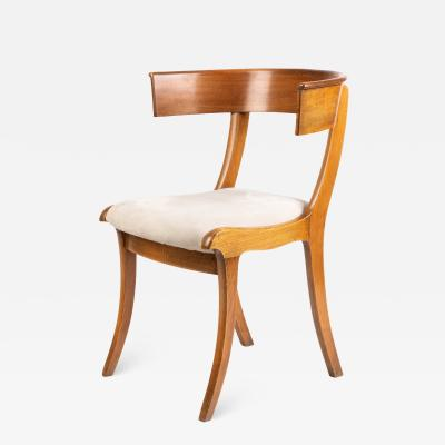Biedermeier Klismos form chair with sabre front legs