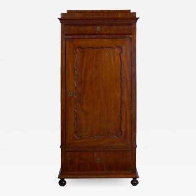 Biedermeier Mahogany Antique Armoire Wardrobe Cabinet circa 1830 50