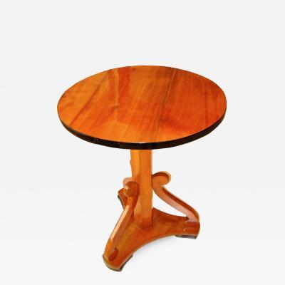 Biedermeier Pedestal Side Table Cherrywood Austria circa 1825