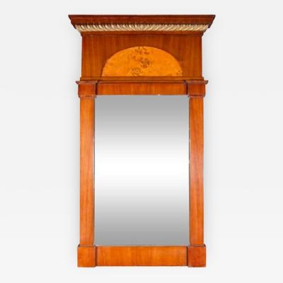Biedermeier Period Mahogany Mirror