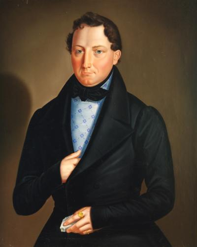 Biedermeier Portrait of a Gentleman c 1820