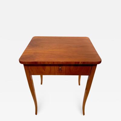 Biedermeier Sewing Table Cherry Veneer Austria circa 1825 1830