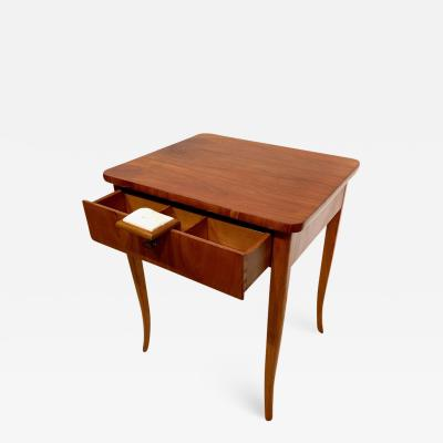 Biedermeier Sewing Table Cherry Veneer Austria circa 1825 1830