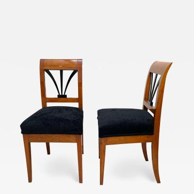 Biedermeier Side Chairs Cherrywood Shellac South Germany circa 1820