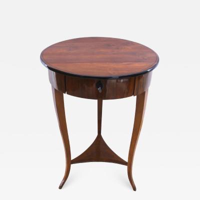 Biedermeier Side Table with Drawer Walnut South Germany circa 1825
